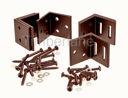 Set ophangbeugels Aluminium kleur Brown