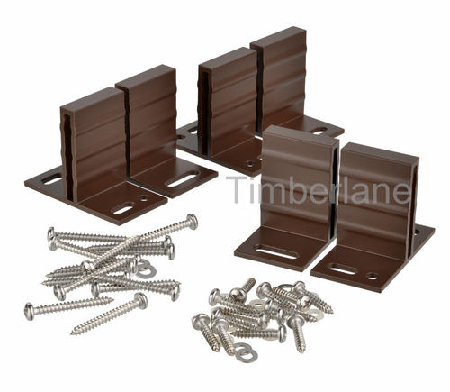T-set ophangbeugels aluminium kleur Brown
